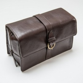 Trousse de Toilette en Cuir Marron